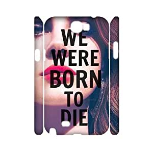 T-TGL(RQ) Customized Lana Del Rey Pattern Protective Cover Case for Samsung Galaxy Note 2 N7100 3D