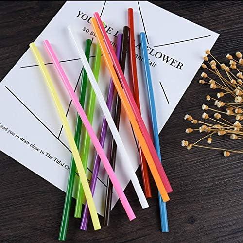 Minmin 大人と子供DIYシール修理のために、ほとんどすべての材料に適しほとんどのホットメルト接着ガン透明なホットメルト接着剤、使用する色のホットメルト接着剤スティック、直径7mmの11ミリメートル、 ミニ (Color : 200pcs, Size : 11x250mm)