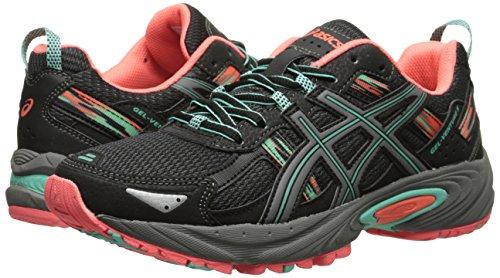 ASICS Women's Gel-venture 5 Running Shoe, Black/Aqua Mint/Flash Coral, 6 M US by ASICS (Image #6)