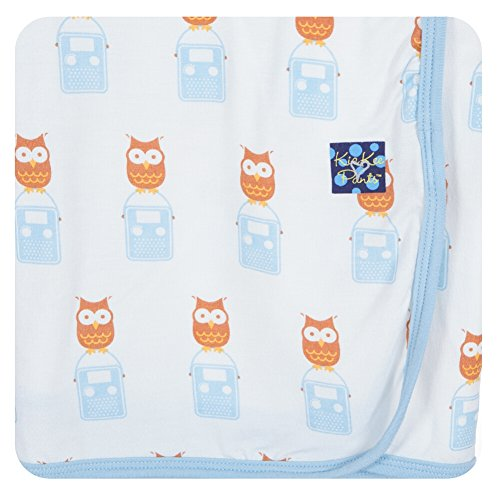Price comparison product image KicKee Pants Swaddling Blanket Natural Radio Owl