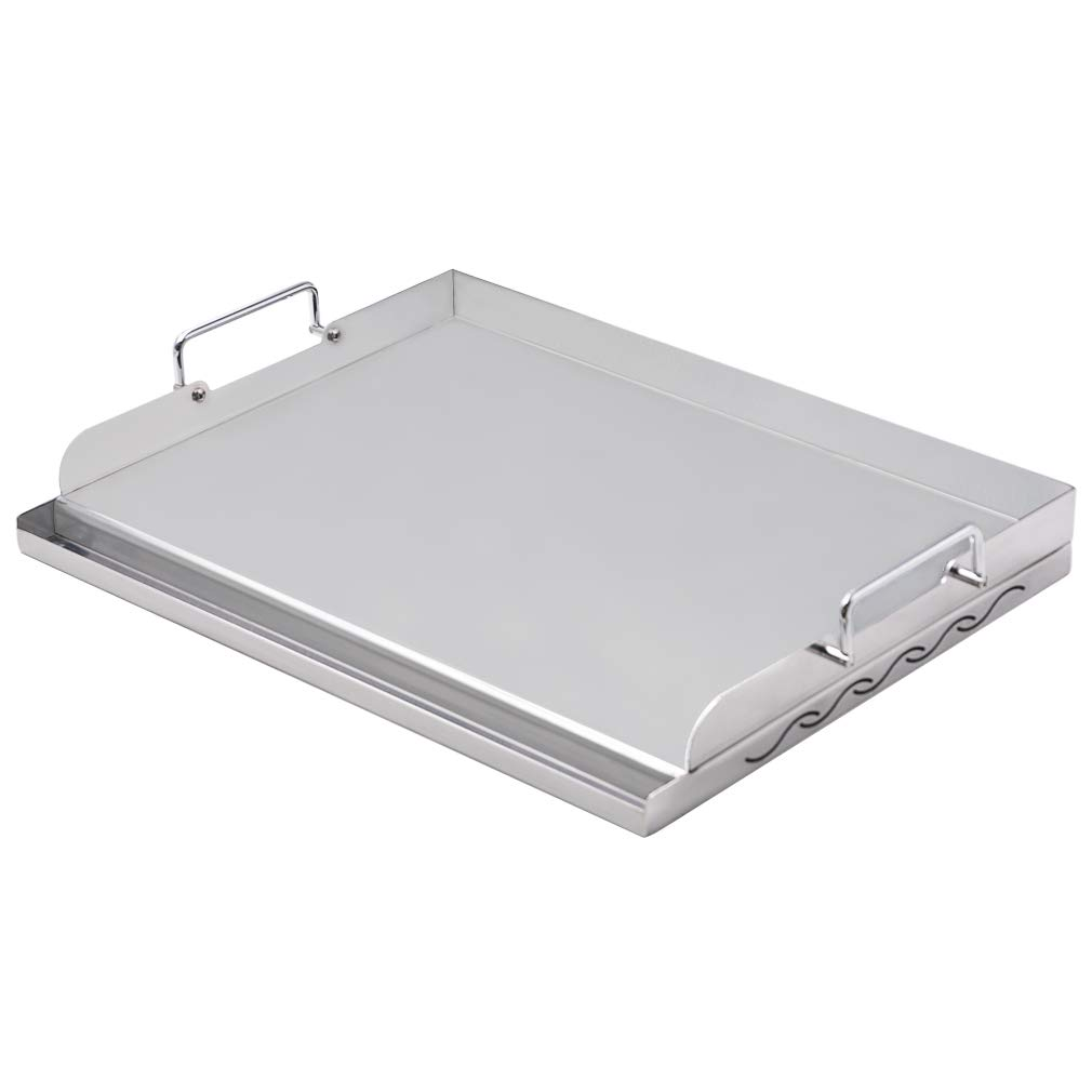 Skyflame Universal Stainless Steel Professional Griddle Plate Plancha for BBQ Grills, 17 x 13 Inches