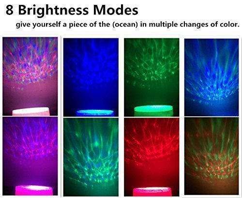 Ocean Wave Night Light, Elecstars-Music Player Multicolor Led bulbs Projection Lamp, Romance and Relax soothing Effect, Bedroom Room Night Light, Best Gift for Kids girl Children Sleeping Aid by Elecstars (Image #7)