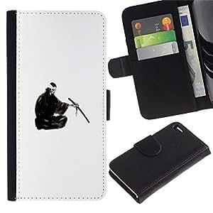 Stuss Case / Funda Carcasa PU de Cuero - Samurai japonés - Apple Iphone 4 / 4S