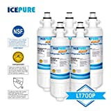 Icepure LT700P Replacement Refrigerator Water Filter For LG LT700P, LT700PC, ADQ36006101, ADQ36006102, KENMORE 469690, RWF1200A, 5PACK