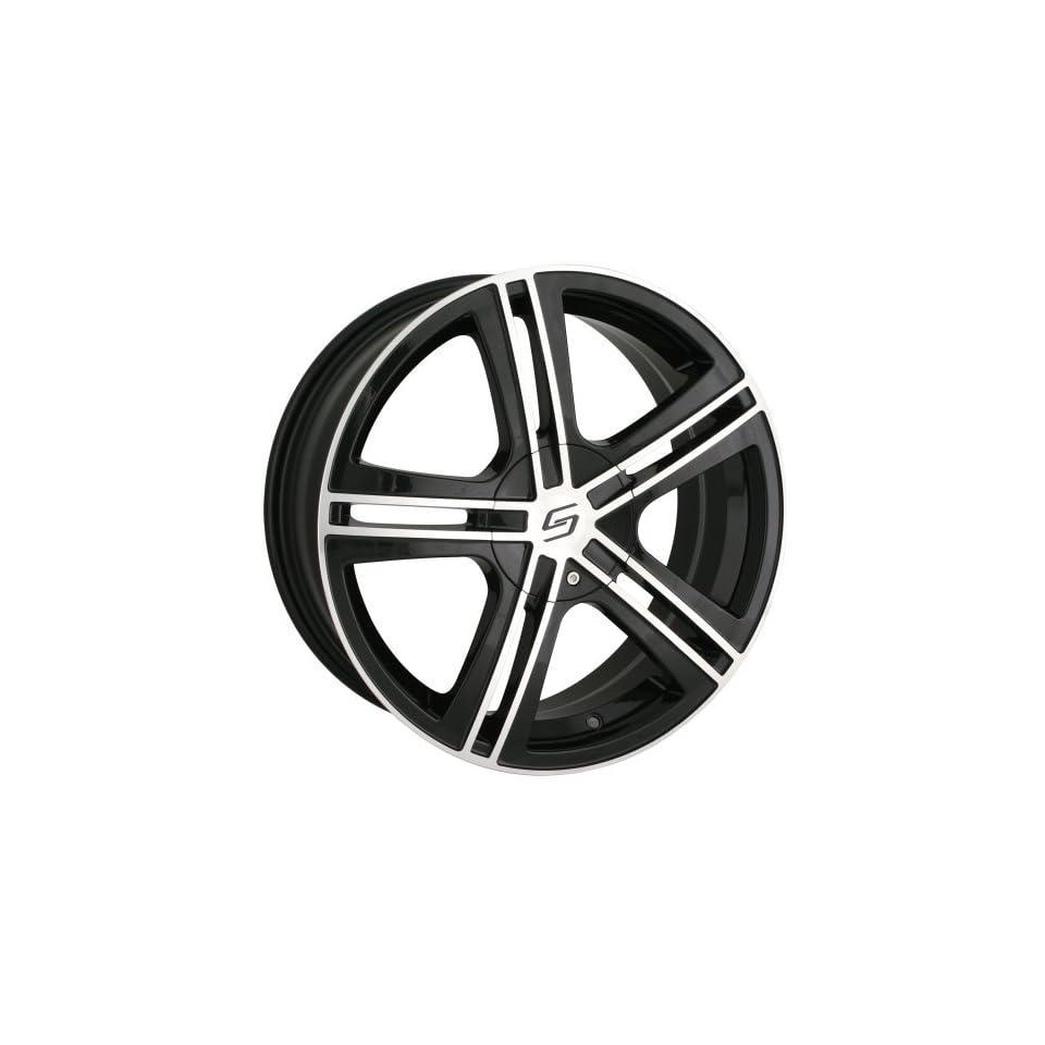 17x7 Sacchi S62 (262) (Black w/ Machined Face) Wheels/Rims 5x112/120 (262 7709B) Automotive