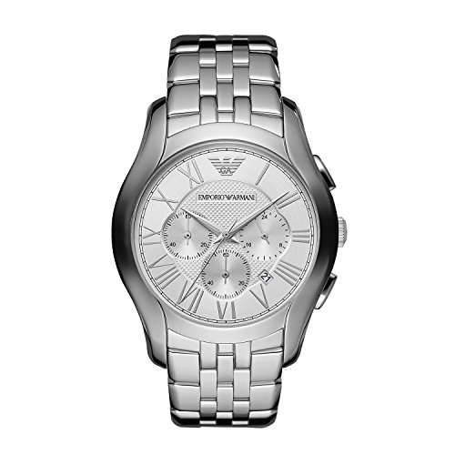 Emporio Armani AR1702 Mens Silver New Valente Watch