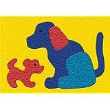 Lauri Crepe Rubber Puzzle - Dog & Puppy