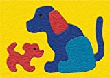 Lauri Crepe Rubber Puzzle - Dog & Puppy