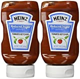 Heinz Reduced Sugar Ketchup, 13 oz (Pack of 2)