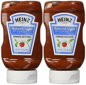 Heinz Reduced Sugar Ketchup, 13 oz (Pack of 2)