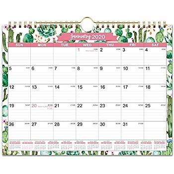 Mini Floral June 2021 Twin Wire Binding 2020 2021 Calendar 8.5 x