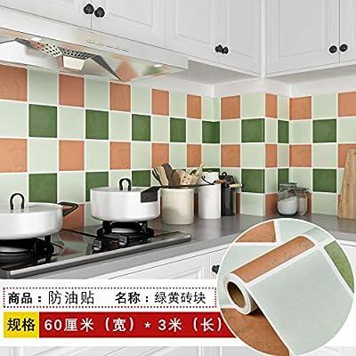 lsaiyy Pegatinas de Cocina Impermeables y reacondicionadas con Aceite gabinete Estufa Autoadhesivas Adhesivos de Pared Papel Pintado- 60CMX3M: Amazon.es: Hogar