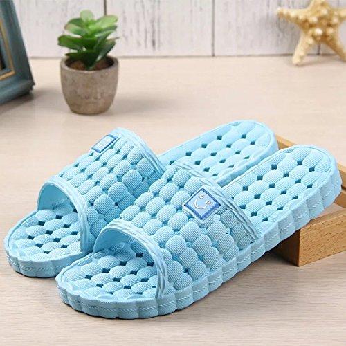 Zapatillas Slip de Water de de Sandals Hotel JJDJF masaje amp; Toes Hotel plástico baño azul verano Zapatillas de wXWqvHB