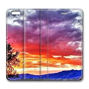 iPhone 6 4.7inch Leather Case - Sunrise Hdr Fashion Luxury Protective Slim Fit Skin Leather Cover For Iphone 6 [Stand Feature] [Slim - fit] Flip Leather Case Cover for New iPhone 6