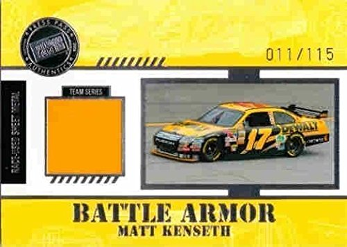 MATT KENSETH 2008 Press Pass Stealth Battle Armor Race Sheet Metal 11/115 Card
