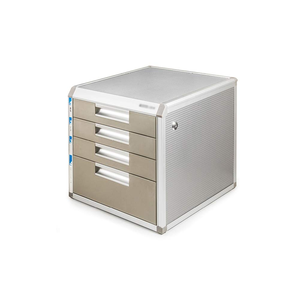 Multi-Layer Layers Lockable Data Cabinet, Desktop File Cabinet with Drawer File Storage Cabinet Office Supplies Portable and Tidy Storage Box (Size : 4-Layers)