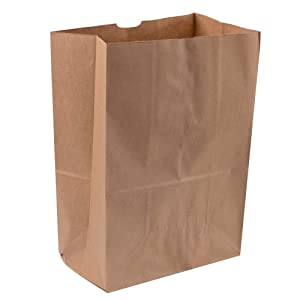 Royal 7 Heavy Duty 12 x 7 x 17 Kraft Brown Paper Barrel Sack Bag 57 Lbs Basis Weight (200)