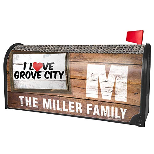 NEONBLOND Custom Mailbox Cover I Love Grove City]()