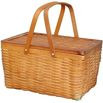 Vintiquewise(TM) Rectangle Handwoven Chipwood Basket