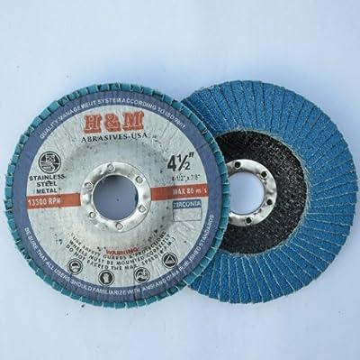 "10pcs Premium FLAP DISCS 4-1/2"" x 7/8"" Zirconia 60 grit Grinding Wheel - Type 29"