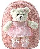 Kreative Kids Cuddly Plush Pink Ballet Bear Backpack
