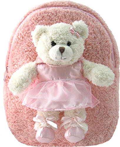 Kreative Kids Cuddly Plush Pink Ballet Bear Backpack -