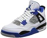 Jordan Men Air 4 Retro Motorsports (white/game royal-black) Size 10.0 US