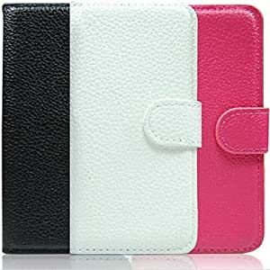 Lichee Pattern Leather Case for iPhone 4/4S(Assorted Color) --- COLOR:Black