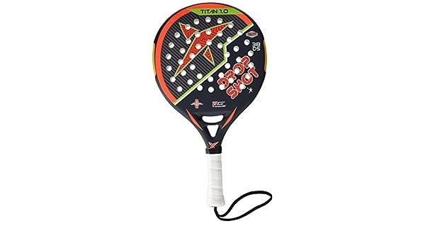 DROP SHOT Titan 1.0 - Pala de pádel, Color Negro/Naranja / Verde, Talla 38 mm: Amazon.es: Deportes y aire libre