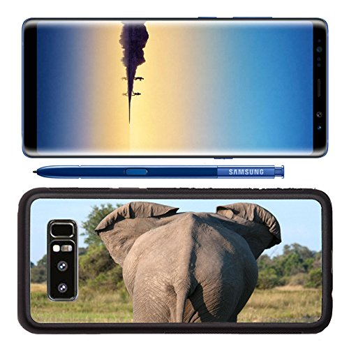 Luxlady Premium Samsung Galaxy Note8 Aluminum Backplate Bumper Snap Case The rear end of an stood in some long green grass in the Okavango Delta Botswana IMAGE ID - Delta Gradient