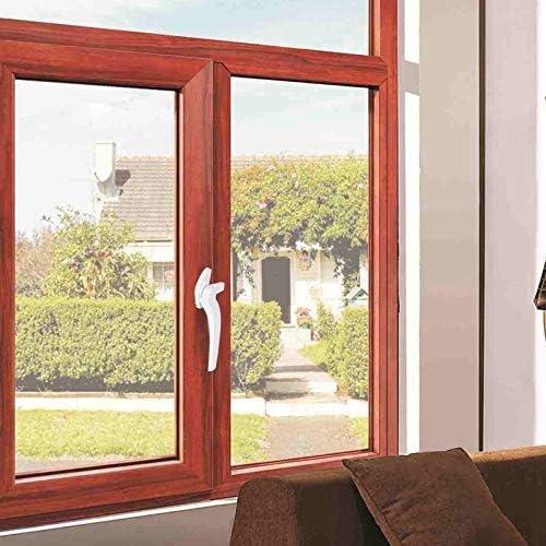 Ventana de Bloqueo Engrosada Puerta de acero y plástico identificador de ventana con el bloqueo de la manija de la ventana Acristalamiento doble aleación de aluminio de la manija de puerta Candado