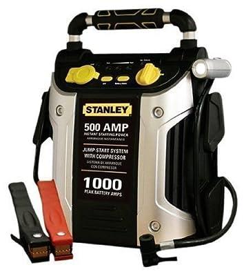 Batteries Accessories JC509 1000 Peak Amp Jump Starter with Compressor