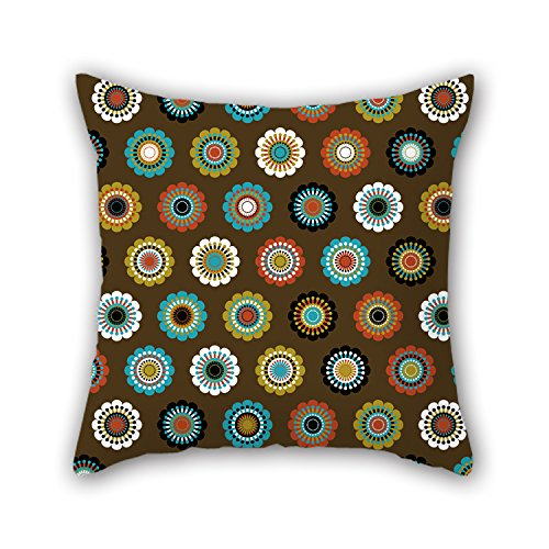 NICEPLW 20 X 20 Inches / 50 By 50 Cm Flower Throw Cushion Covers ,twin Sides Ornament And Gift To Home,wife,outdoor,coffee House,play Room,kids