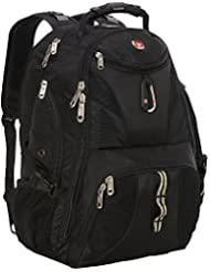 SwissGear Travel Gear ScanSmart Backpack 1900 (Black, 18-Inch)