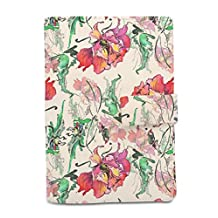 Vietsbay Watercolor Flower Printed Canvas Passport Holder Cover Case WAS_11