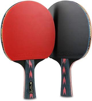 BAIYA Kohlefaser Ultraleichter Tischtennisschl/äger Rote Und Schwarze 2 St/öcke Doppelschuss Schie/ßen Berufliche Ausbildung