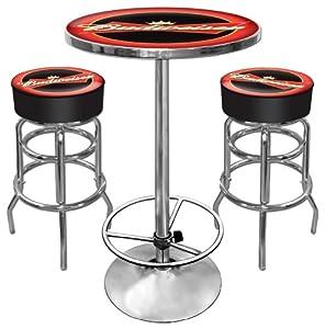 Amazon budweiser ultimate gameroom combo 2 bar stools pub budweiser ultimate gameroom combo 2 bar stools pub table watchthetrailerfo