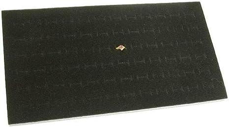 Black 2 72 Slot Black Jewelry Travel Ring Inserts Display Pads Black Foam