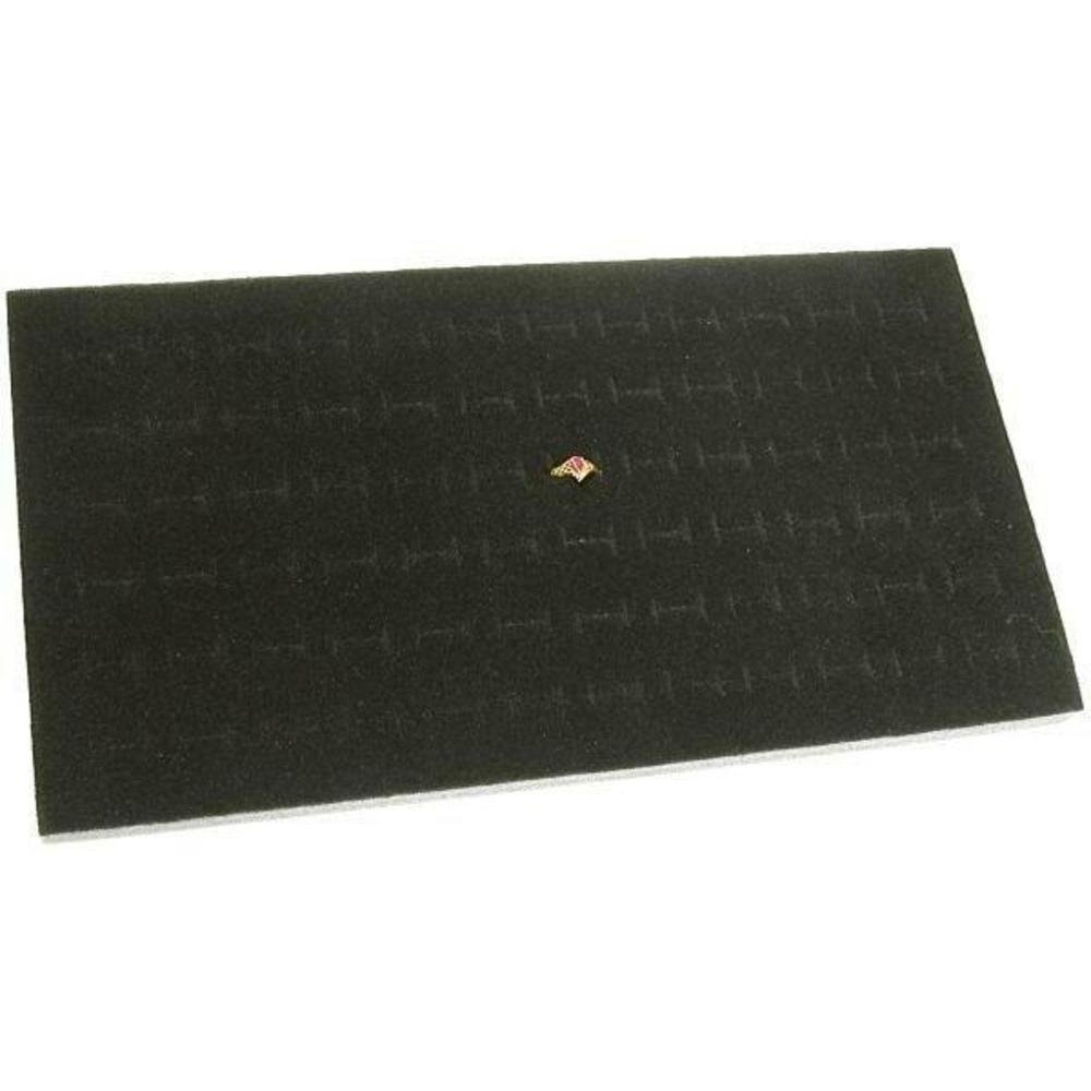 FindingKing 72 Slot Black Jewelry Travel Ring Insert Display Pad