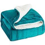Bedsure Sherpa Fleece Blanket Twin Size Teal Plush Throw Blanket Fuzzy Soft Blanket Microfiber