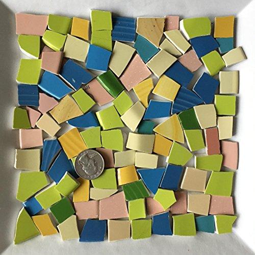 - 100+ Mosaic Art & Craft Supply ~ Bright Yellow Stoneware Tiles (T#635)