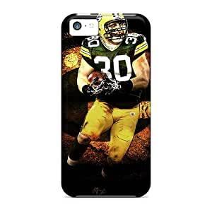 Iphone 5c OjE22400SFzk Customized Vivid Green Bay Packers Pattern Protective Cell-phone Hard Cover -best-phone-covers