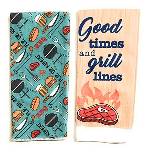 Home Collection Kitchen Towels 2 Pack (BBQ Theme) -