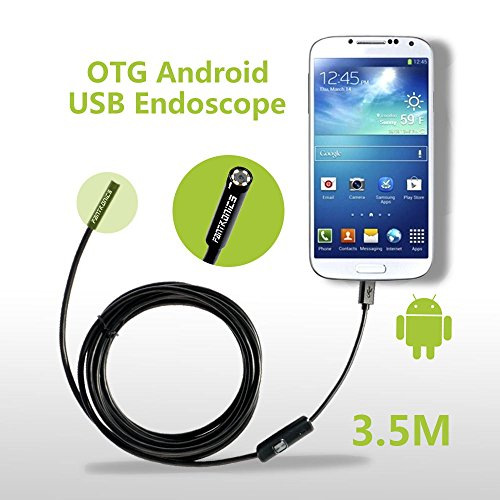 Fantronics 7mm Android Endoscope OTG Micro USB Endoscope Waterproof Borescopes Inspection Camera with 6 LED and