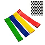 Huaker Resistance Bands Loop Exercise Bands Workout Bands Stretch Bands for Home Gym Fitness Yoga,Physical Therapy, Strength Training with Carry Bags,Set of 4