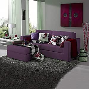VentaMuebles - Sofa chaise longue lisboa chaise longue 1 plaza morado bering