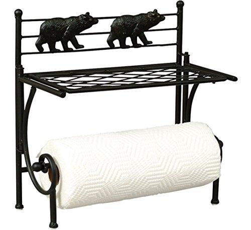 Holder Cabin Paper Towel - Imperial Home ID6274 Paper Towel Holder 15 Inch Black