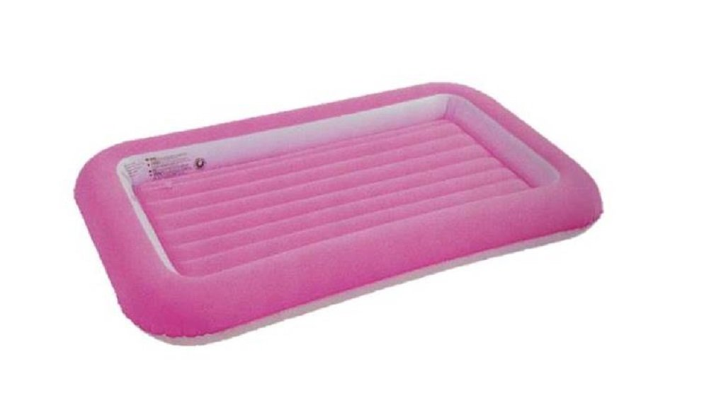 Jilong Flocked Kiddy Air Bed Girls Inflatable Bed Air Mattress Bright Pink 152cm x 89cm x 17.5cm Age 3+