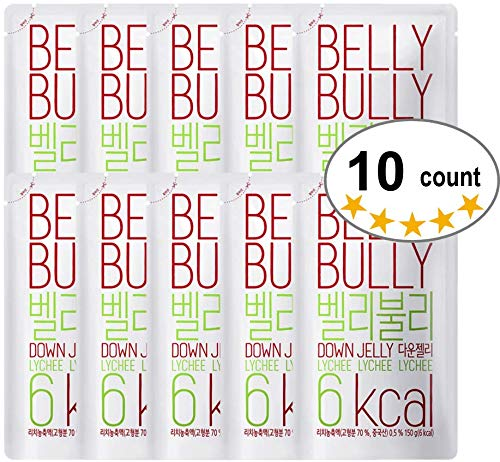 10 Count, Belly Bully Down Jelly-Dietary Supplement for Weight Loss, Appetite Suppresants (Lychee, 10 Count)