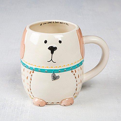 Natural Life Folk Critter Ceramic Mug Dog - Life Ceramic
